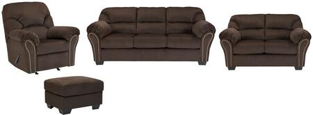 Kinlock Collection 33401slro 4-piece Living Room Set With Sofa  Loveseat  Recliner And Ottoman In