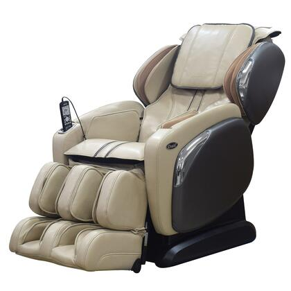 OS-4000CS IVORY Massage Chair with Space Saving Recline  Lumbar Heating Pad  Zero Gravity Positioning  24 Airbag Massage and 6 Massage Techniques in