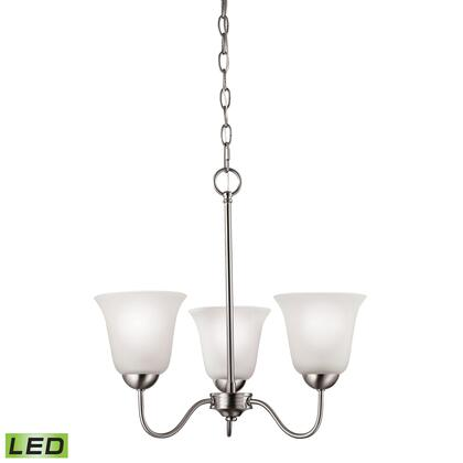 1203Ch/20-Led Conway 3 Light Led Chandelier In Brushed