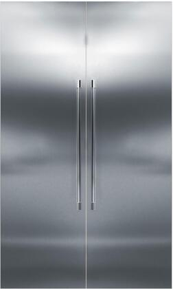 48 inch  Stainless Steel Side-by-Side Refrigerator with CR24F12L 24 inch  Left Side Freezer  CR24R12R 24 inch  Right Side Refrigerator  and 6 inch  Toe