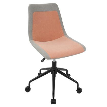 OC-ORZO BK+OR Orzo Height Adjustable Task Chair in Black and Orange