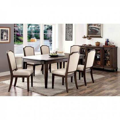 Haylee Collection CM3193TDTB6SC 8-Piece Dining Room Set with 60
