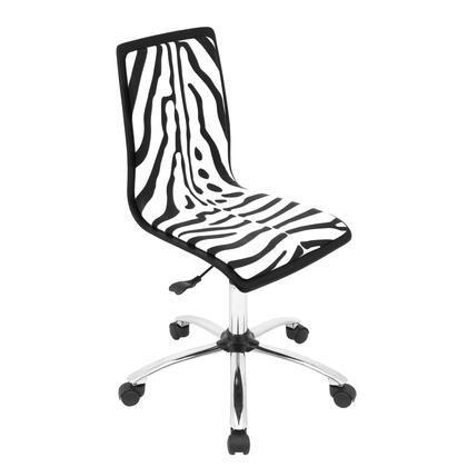 OFC-TM-PZB BK+W Printed Height Adjustable Office Chair with Swivel in