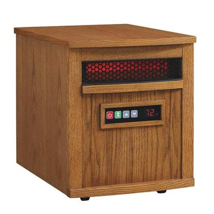 9HM8000-O142 Charter Power Heat with 2.876 Cu. Ft. 5200 BTUs 6 Infrared Quartz Heating Elements Solid Hardwoods and Real Wood Veneers in Oak