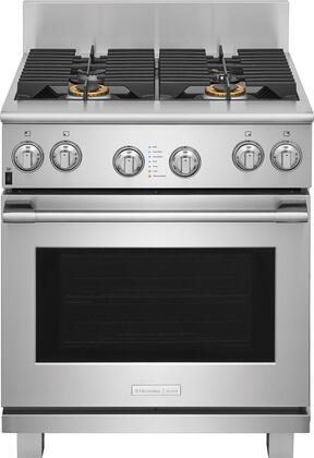 E30DF74TPS 30 inch  Pro Style Dual Fuel Range with 4 Burners  CustomConvect Convection  Smooth-Glide Oven Racks  in Stainless