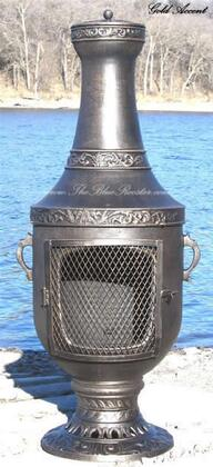 ALCH026GA Venetian Chiminea Outdoor Fireplace in Gold