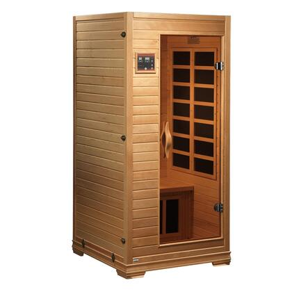 GDI-6109-01 77 inch  Low EMF Far Infrared Sauna with 1-2 Person Capacity  6 Carbon Heating Elements  Interior and LED Control Panel  Roof Vent and Tempered Glass