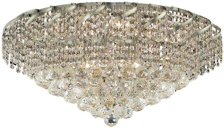 VECA1F26C/RC Belenus Collection Flush Mount D:26In H:13In Lt:10 Chrome Finish (Royal Cut