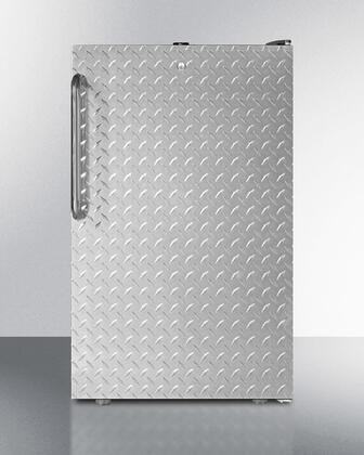 FS408BLBIDPL 20 inch  Built-in or Freestanding All-freezer  with 2.8 cu.ft. Capacity  Door Lock and Adjustable Thermostat: Diamond Plate