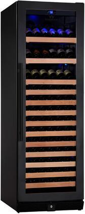 KBU-170W-FG 24 inch  1 Temperature Zone Wine Cooler with 131 Bottle  Warp Resistant Beech Wood Shelves and Door Lock: Glass Door in