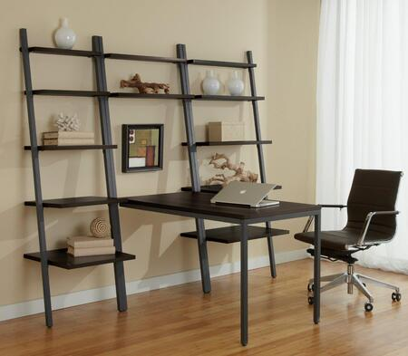 1C100015PES Espresso Leaning Ladder Desk with