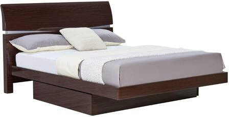 Aurora Collection AURORA-W-FB Full Size Storage Bed with Under-Bed Storage Trundle  Clean Line Design  Accent Slits and Glossy Finish in