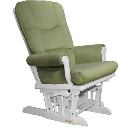 37537KD.15.0187 White Super Comfortable Glider - Bella Lichen