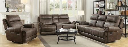 Brixton Collection 602441-S3 3-Piece Living Room Set with Reclining Sofa  Reclining Loveseat and Recliner in Buckskin