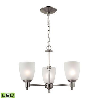 1303Ch/20-Led Jackson 3 Light Led Chandelier In Brushed