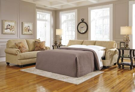 Candoro Collection 1180639 92 inch  Sleeper Sofa with Queen Size Mattress  Fabric Upholstery  Nail Head Trims  Rolled Armrests and Short Bun Feet in