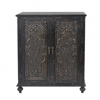 DS-D204-011 Ornate Front Black Door