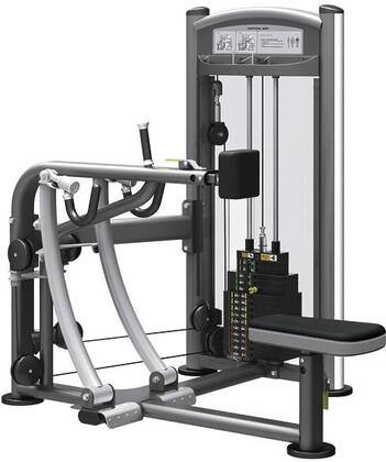 E-5086 Titanium Series 9319 Vertical Row Machine with 200 lbs. Incremental Weight Stack  Military Grade Cables and High-Tech Oval Tubing in Black and