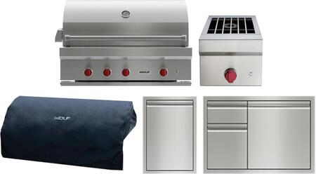 5 Piece Outdoor Kitchen Appliance Package with 42