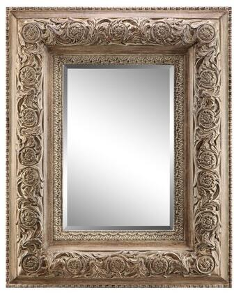 Samira Villa Collection 13433 58 inch  x 46 inch  Wall Mirror with Intricate Raised design  Metal Frame and Powder Glaze in