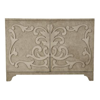 D153064 Ornate Overlay Two Door Accent Bar Cabinet In
