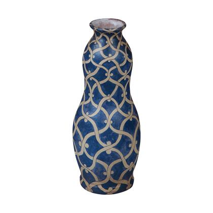 204011 European Chainlink Vase  Blue and