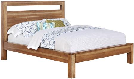 Ethan Collection 205651KW California King Size Bed with 13 PC Slats Included  Casual Style  Solid Acacia and Acacia Veneer Construction in Natural Brown