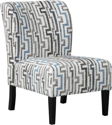 Alsen Collection 7390160 22 inch  Accent Chair with Fabric Upholstery  Decorative Patterning and Sleek Tapered Legs in