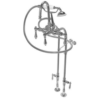 F200C-CH 200 Series Bathtub Faucet  30 inch  Floor Mount Supply Lines  Hand Shower & 5 Metal Lever Handles: