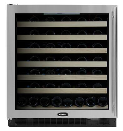 "8SWCEBSGLL Stainless Frame Glass Door 30"" Wine Cellar with 68 Bottle Capacity  Lock  Incandescent Interior Lighting  Blue LED Display  Close Door Assist System"