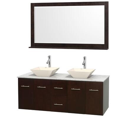WCVW00960DESCMD2BM58 60 in. Double Bathroom Vanity in
