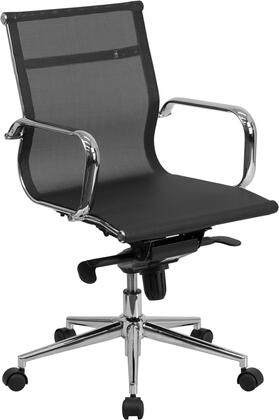 BT-2768M-GG Mid-Back Black Mesh Executive Swivel Office Chair with Synchro-Tilt