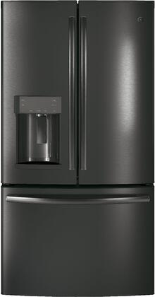 GE GYE22HBLTS 36 Inch 22.2 Cu. Ft. French Door Refrigerator Black Stainless Steel