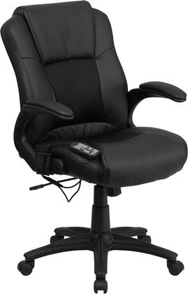 BT-2536P-1-GG Massaging Black Leather Executive Office