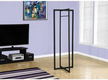 "I2150 72"" Coat Rack with Geometric Design  Modern Style and Ample Storage in Black"
