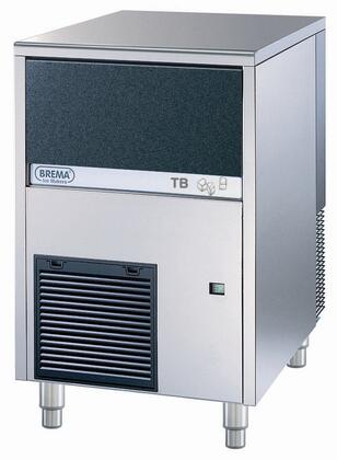 TB852A Ice Maker with Bin by Brema self contained  all Stainless steel and air cooling system  Pebbles Ice Style with production up to 187 lbs. Per 24