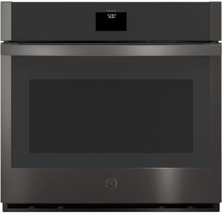 JTS5000BNTS  30 Built-In Single Electric Convection Wall Oven with True European Convection  Hidden Backlit LCD Control  Precision Temperature Probe