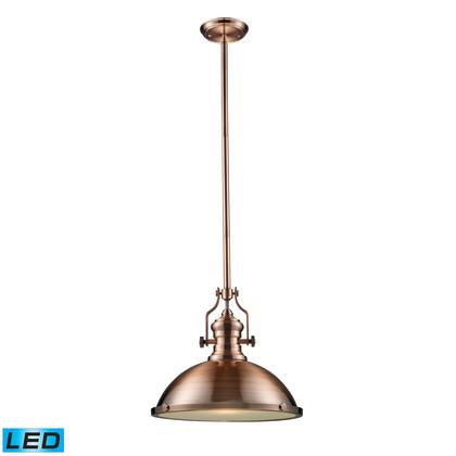66148-1-LED Chadwick 1-Light Pendant in Antique Copper -