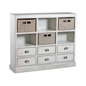 "Currituck Collection 15A2064 46"""" Console with Three Baskets  Six Drawers and Metal Cup Pulls in"" 658037"