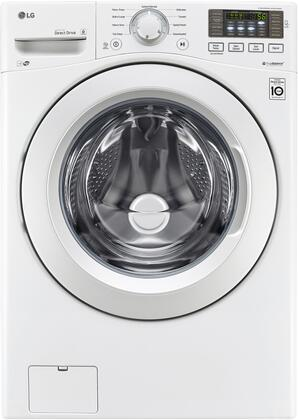 "WM3080CW 27"""" Front Load Washer with 4.3 cu. ft. Capacity  9 Wash Programs  Energy Star Qualified  SmartThinQ Technology  in"" 938003"