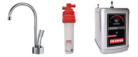 LB7200-100-3HT Faucet Set with LB7200 Hot & Cold Filtered Water Dispenser  FRCNSTR100 Filter Canister and HT300 Little Butler Heating