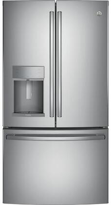 GE Profile PYD22KSLSS 36 Counter Depth French Door Refrigerator with 22.2 cu. ft. Total Capacity in Stainless Steel