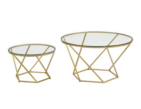 AF28CLRGGGD Geometric Glass Nesting Coffee Tables in
