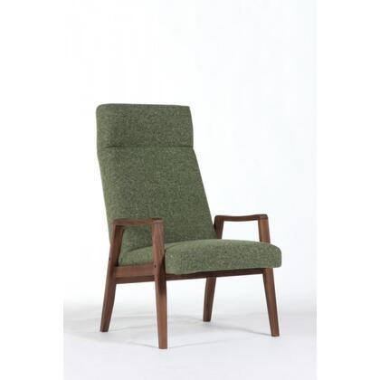 Flying FEC9639TWGRN Lounge Chair with Tapered Legs  Track Arms and Fabric Upholstery in