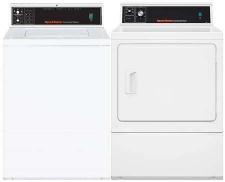 White Top Load Laundry Pair with SWNMN2SP115TW01 26