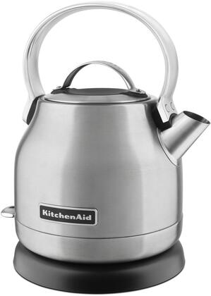 KEK1222SX 1.25 Liter Electric Kettle with Removable Lid  Simple Controls  Removable Base  and Stainless Steel Body  in Brushed Stainless