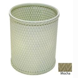 R426MO Chelsea Collection Decorator Color Round Wicker Wastebasket in