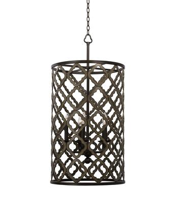 504853BS Whittaker 5-Light Small Foyer Light Pendant Style  120V in Brownstone