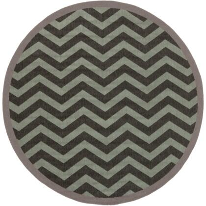 Alfresco Alf9643-73rd 73 Round 100% Polypropylene Rug With Low Pile  Loop Texture  And Machine Made In Egypt In Moss And