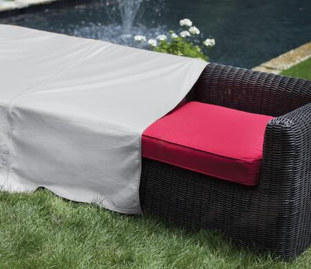 1258 28 inch  x 40 inch  Outdoor Sectional Armless Center Cover with UV Treated  Water Resistant  Soft Fleece Polypropylene Backing and Heavy Duty Vinyl Fabric in Grey